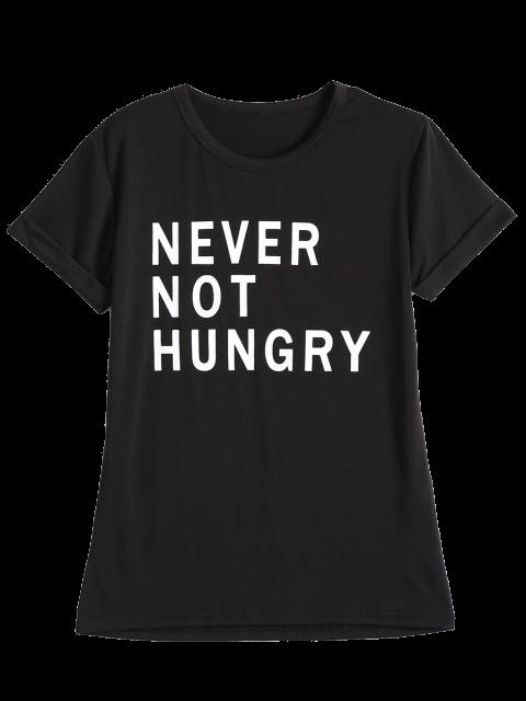 women's Funny Graphic T-Shirt - BLACK M Mobile