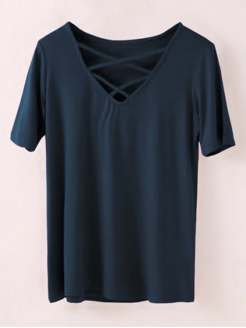 sale Strappy T-Shirt - CADETBLUE M Mobile