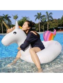 Inflatable PVC Unicorn Shape Floating Row - White
