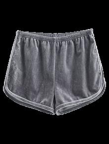 Pantalones Cortos De Terciopelo Deportivo - Gris