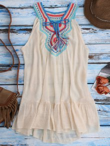 Crochet Bib Cover-Up Tank Dress