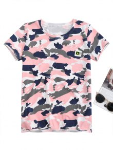 Pentagram Applique Camo T-Shirt