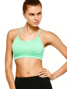 Push Up Strappy Back Sports Bra