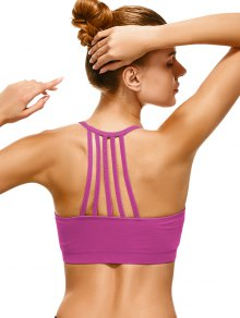 Push Up Strappy Back Sports Bra - Tutti Frutti