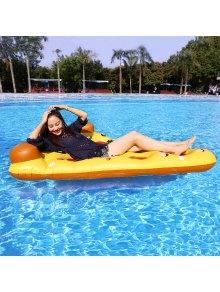 Pizza Shape Inflatable Swimming Float - Mandarin