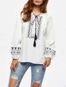 String Embroidered Blouse
