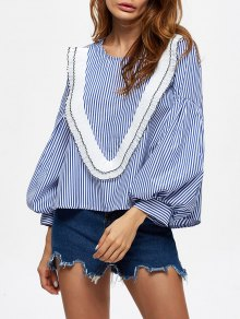 Stripes Ruffles Blouse