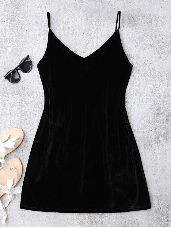 Embroidered Floral Patch Velvet Sleepwear - BLACK XL Mobile