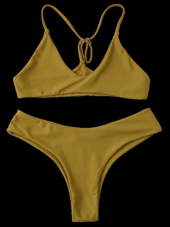 Spaghetti Strap Thong Bikini Set - GINGER M Mobile