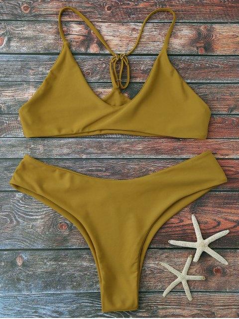 outfits Spaghetti Strap Thong Bikini Set - GINGER M Mobile