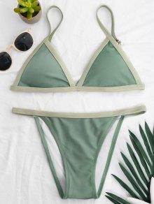 Two Tone Padded Bikini Set