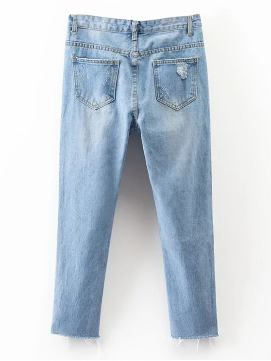 Rippes Tapered Jeans - DENIM BLUE M Mobile