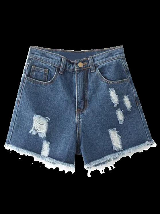 Lamentando puntos de corte pantalones cortos de mezclilla - Marina de Guerra 28