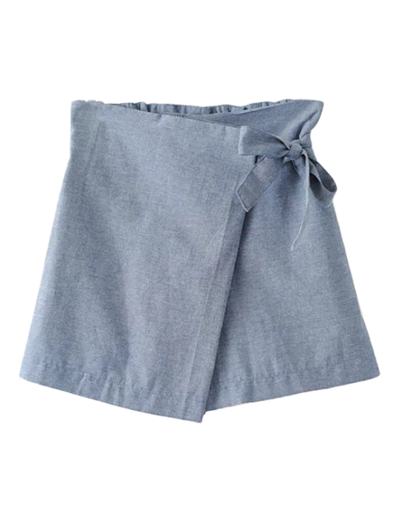 buy Bowknot Culotte Shorts - GRAY L