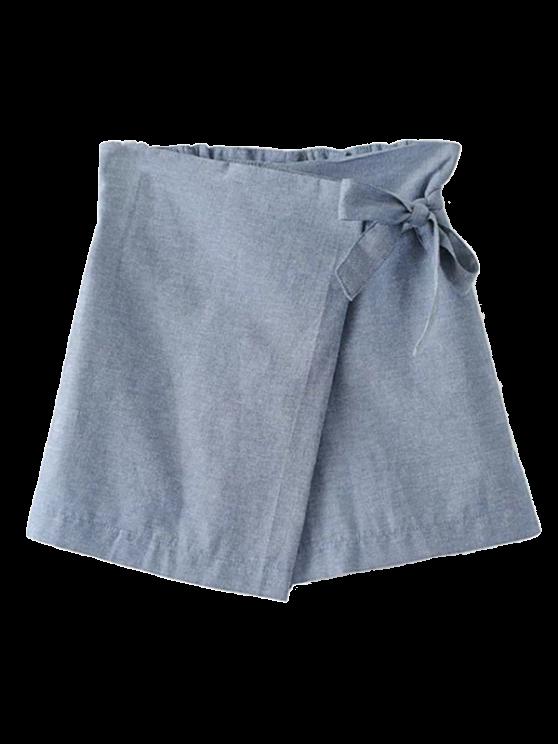 Pantalones cortos del Bowknot Culotte - Gris M