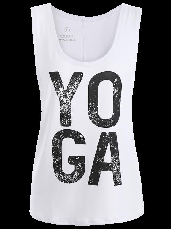 Yoga Dropped Armhole Sports Tank Top - WHITE L Mobile