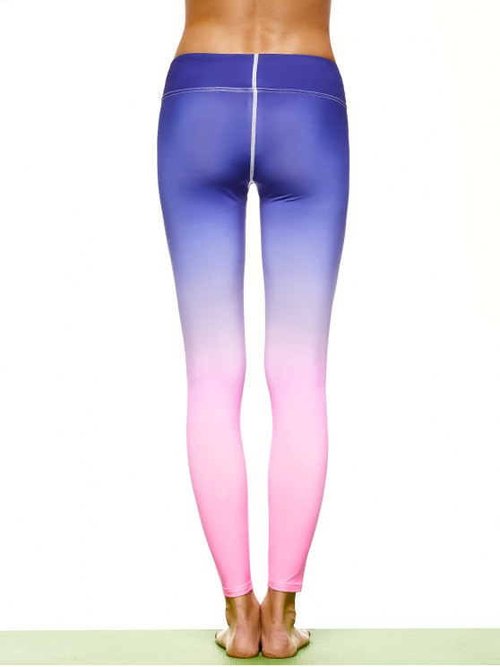 Ombre Stirrup Yoga Leggings - GRADUAL PINK M Mobile