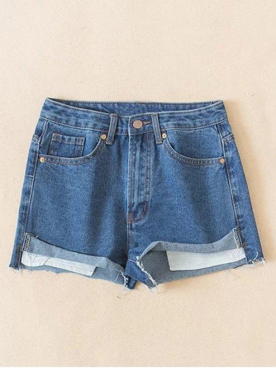 Los puntos de corte pantalones cortos de mezclilla - Azul Claro M