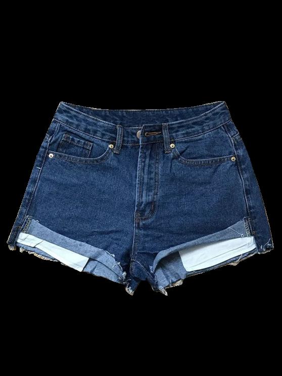 buy Cutoffs Denim Shorts - DEEP BLUE M