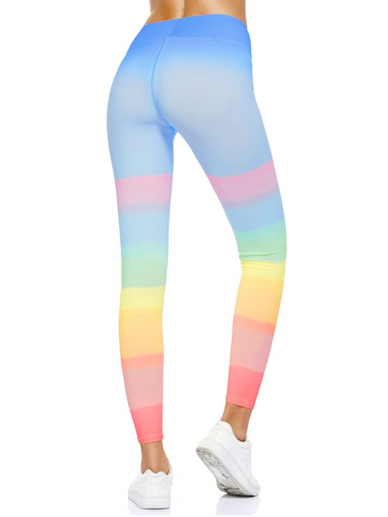 Ombre Dancing Leggings - MULTICOLOR M Mobile
