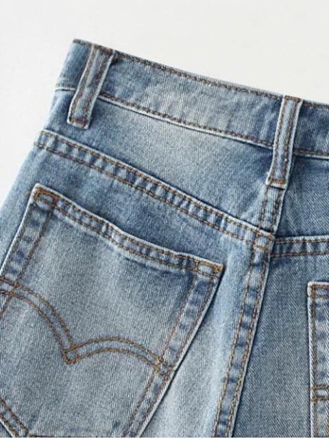 latest Cutoffs Distressed Denim Shorts - DEEP BLUE 27 Mobile