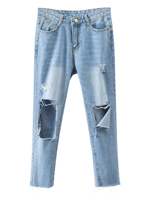 buy Rippes Tapered Jeans - DENIM BLUE XL Mobile