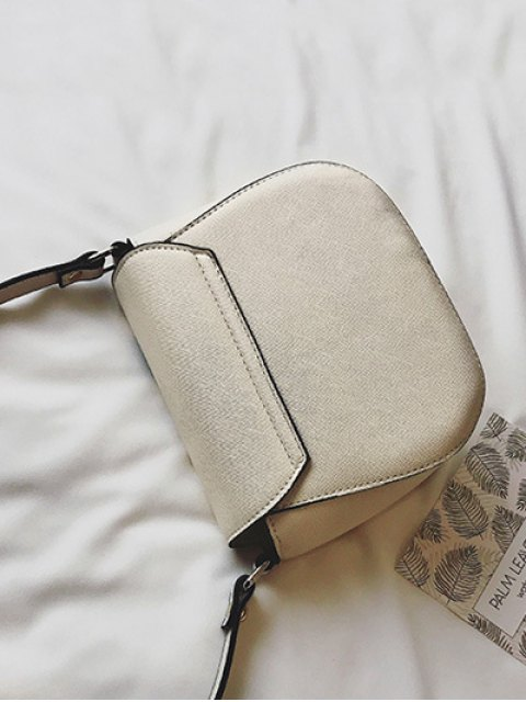 trendy Palm Tree Print Crossbody Bag - WHITE  Mobile