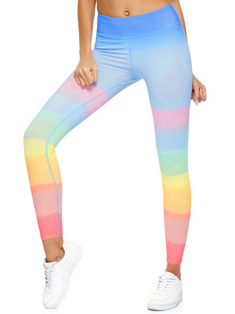 fancy Ombre Dancing Leggings - MULTICOLOR L Mobile