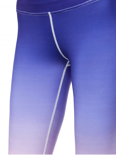 affordable Ombre Stirrup Yoga Leggings - GRADUAL PINK L Mobile