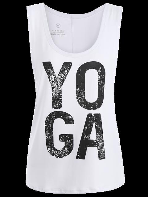 outfits Yoga Dropped Armhole Sports Tank Top - WHITE L Mobile