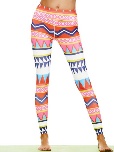 Zigzag Geometric Footless Leggings
