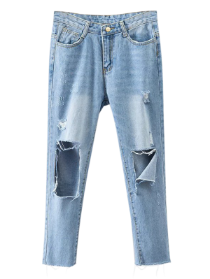 Rippes Tapered Jeans - Denim Blue