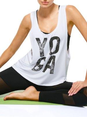 Yoga Abandonado Armhole Deportes Tank Top - Blanco