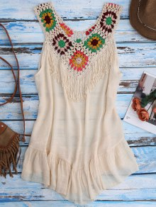 Crochet Yoke Cover-Up Tank Dress