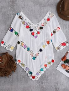 Crochet Chevron Beach Cover-Up Tunic