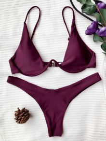 Buy Push Plunge Bathing Suit - MERLOT M