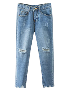 Cutoffs Ripped Tapered Jeans
