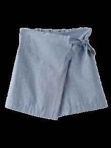 Bowknot Culotte Shorts - Gray