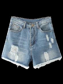 Cutoffs Distressed Denim Shorts