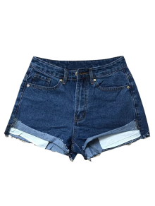 Cutoffs Denim Shorts - Deep Blue