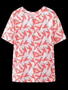 Oversize Chilli T-shirt imprimé