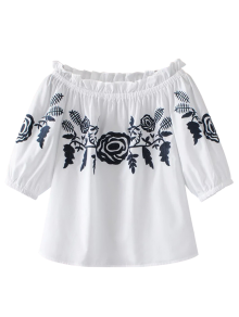 Off The Shoulder Ruffles Blouse
