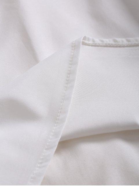 unique Slip Lace Embroidered Rose Applique Dress - WHITE S Mobile