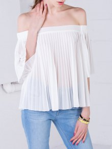 Off The Shoulder See-Through Top - White