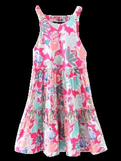 Ruffles Floral A-Line Dress - Floral S
