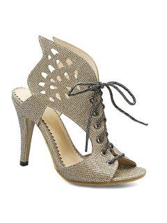 Wings Stiletto Heel Slippers - Golden 39