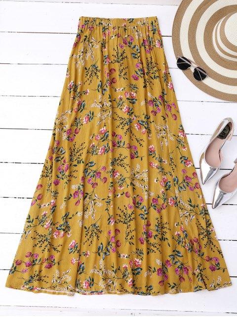 new Floral High Slit Maxi Skirt - GINGER L Mobile