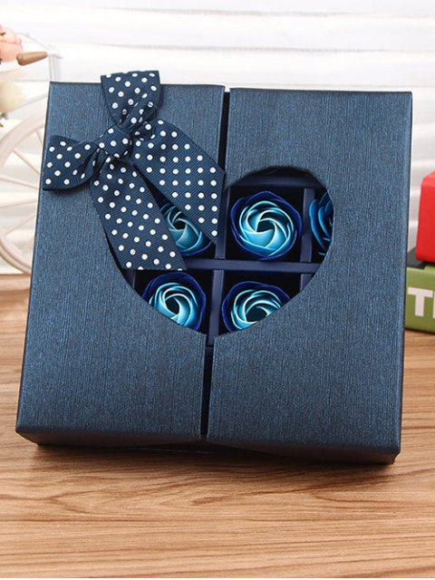 women's 1 Box 16 Grids Artificial Soap Rose Bowknot Mother's Day Gift - ROYAL  Mobile