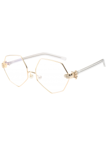 Faux Pearl Nose Pad Geometric Sunglasses