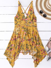 Tiny Floral Plunging Neck Romper
